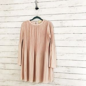 Gianni Bini - Blush Pleated Dress - Bell Sleeves